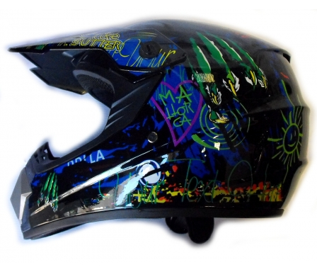 KASK MOTOCYKLOWY CROSS ENDURO QUAD MONSTER